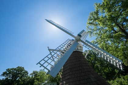Photo of the historic windmill on the KBS property