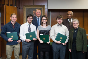 Levi Stork and other Board of Trustees Award Winners