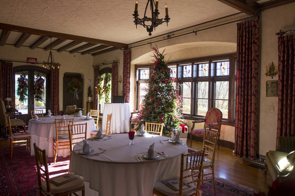 The Manor House is specially decorated for the Holidays.